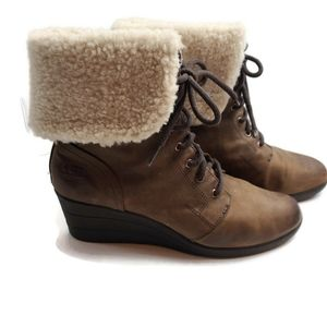 Ugg waterproof size 11 women's leather boots.